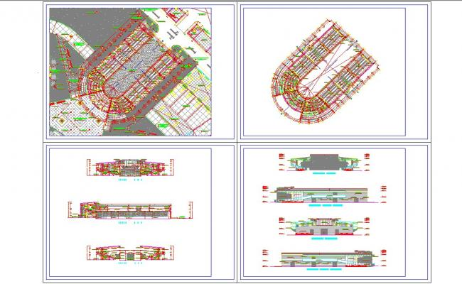 Indoor Live pefomance stage detail in autocad files
