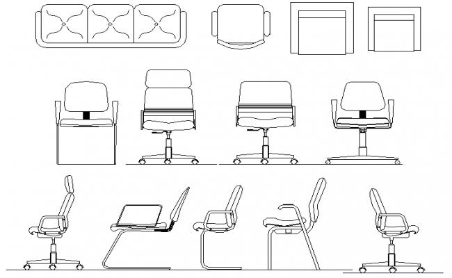2D Chair Block design
