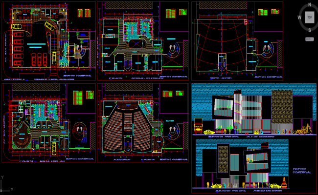 Commercial complex dwg