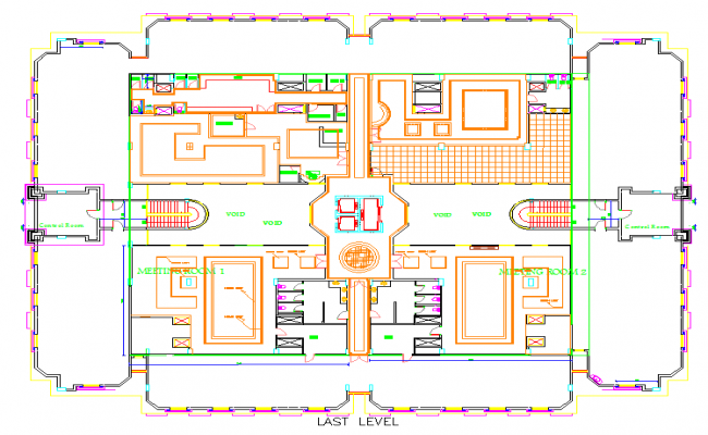 Ceiling Pent House Plan