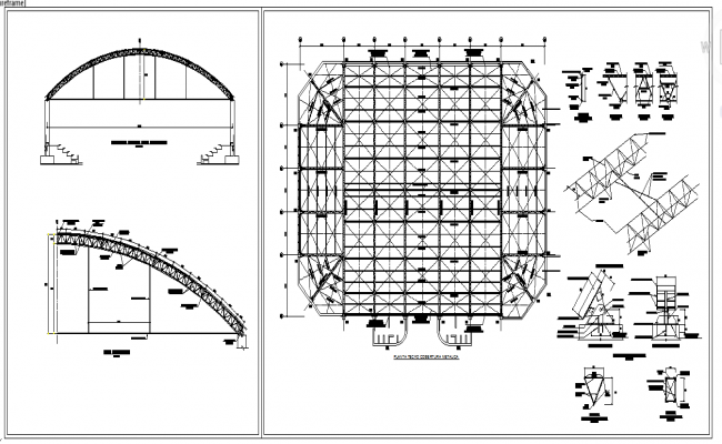 Metal Structure Arc Roof Design