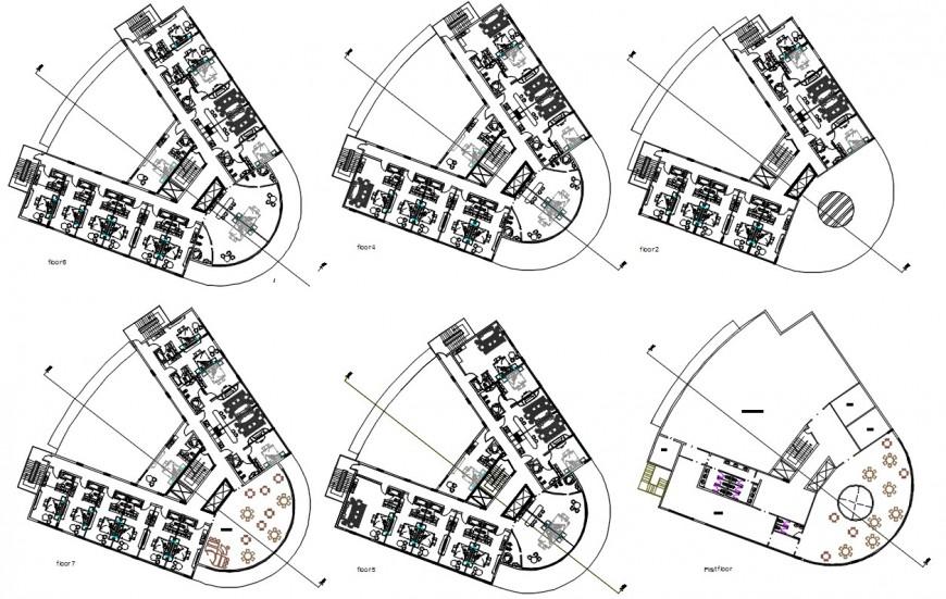 5 star hotel floor detail cad file