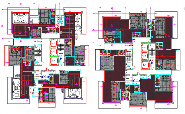 Pent House Lay-out DWG file
