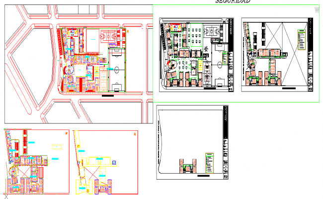 Collage Design lay-out plan