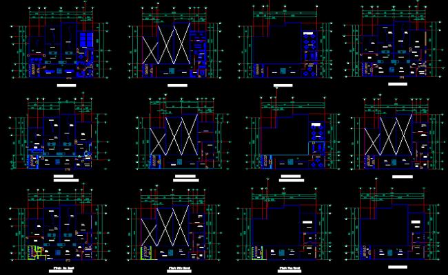 museum cad blocks, Museum Plan dwg