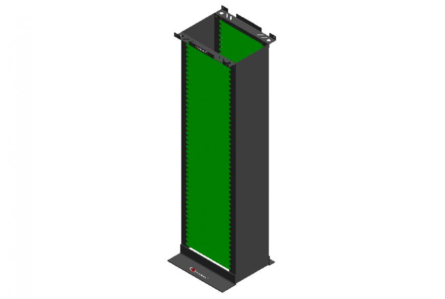 600 mm wide data rack drawing cad block details dwg file