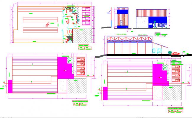 storage design  plan DWG