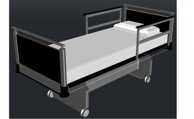 3D Hospital Bed design