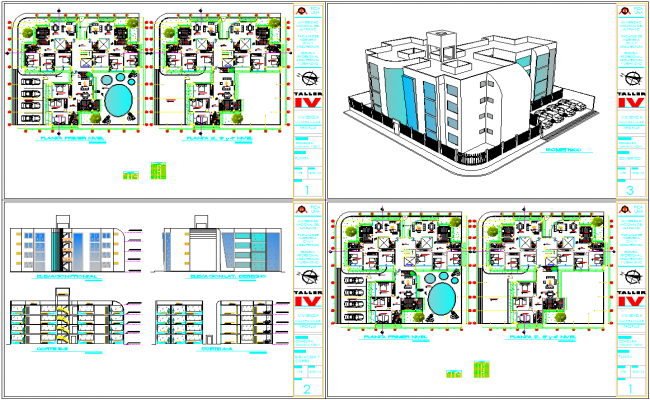 3 BHK Apartment plan