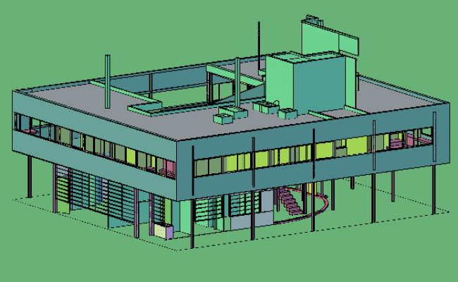 3D drawing of Villas design drawing