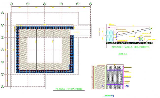 Heliport Design DWG  file