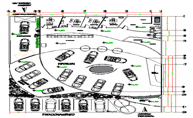 Car Show room plan
