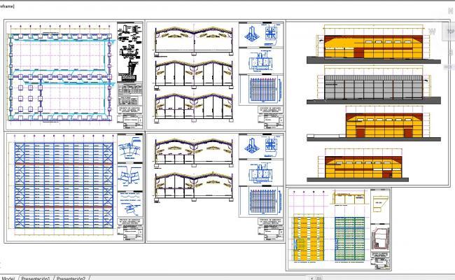 Industrial factory steel girder detail