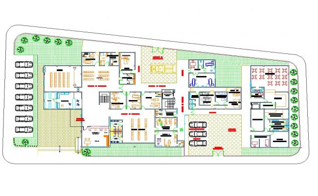 Hospital architecture floor plan
