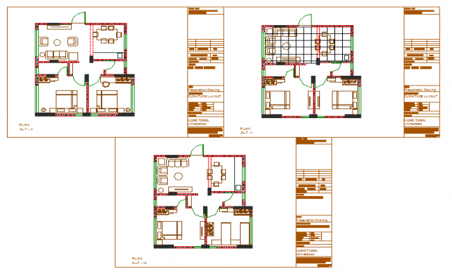 2 BHK House Lay out