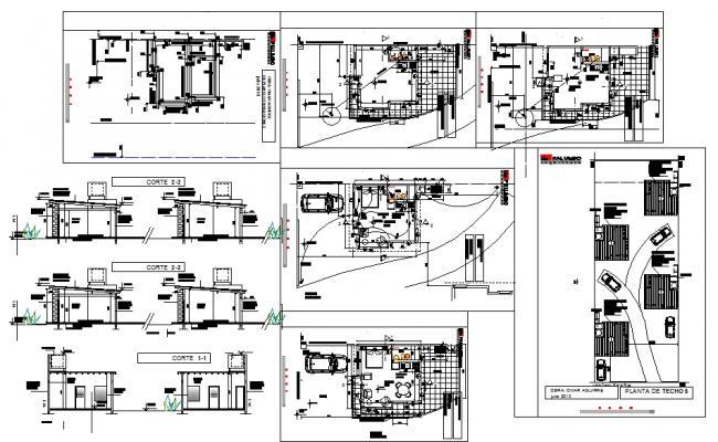 4 Floor Apartment House plan