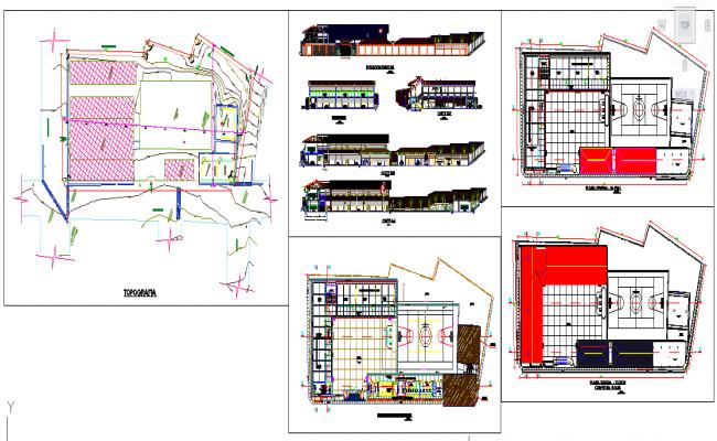 School-Sport Ground plan