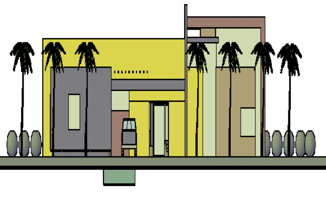 3D drawing of house design drawing