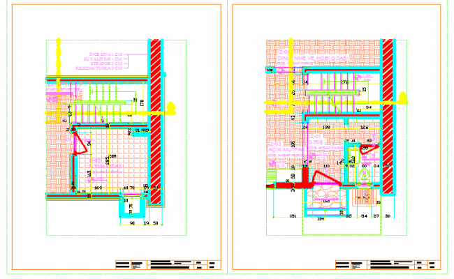 Pavering detail of Holiday house design drawing