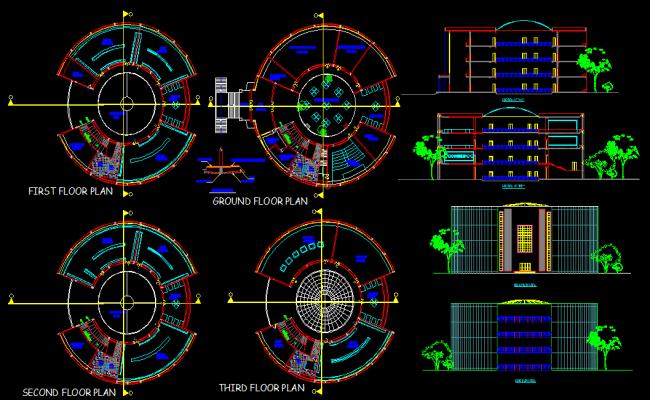 Museum Plan Dwg