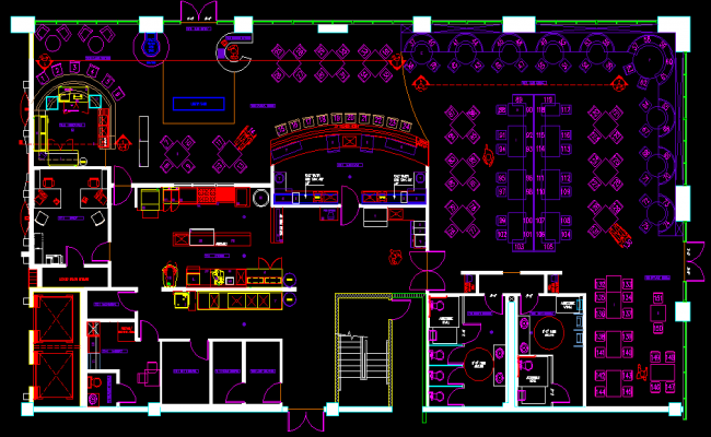 Restaurant kitchen layout cad blocks wow