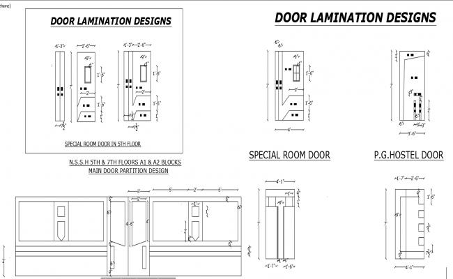 Door detail dwg