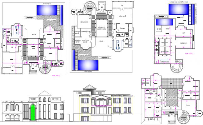 Modern villa for Villa plan dwg
