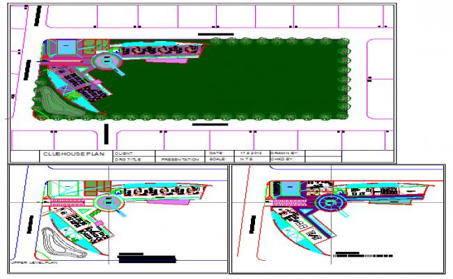 Club House detail plan