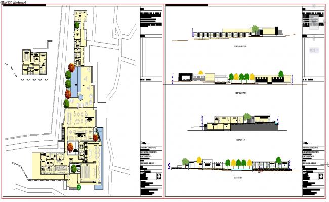 Modern  Restaurant plan