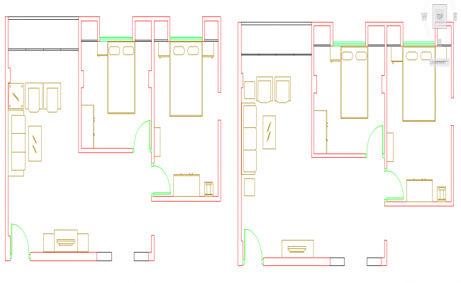 simple House Lay-out detail