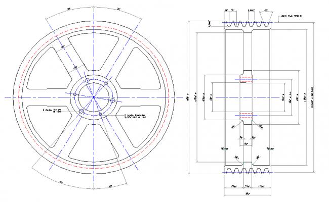 Pulley vertical Pump Design