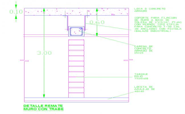 Slab & column detail