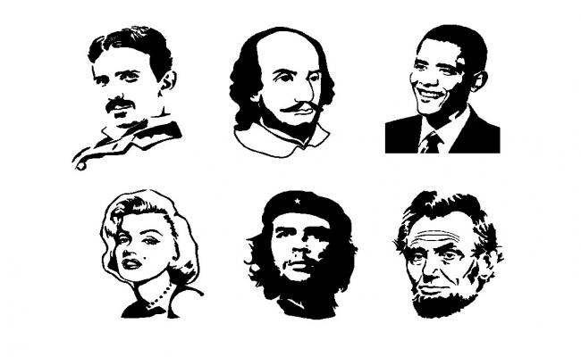 Famous people dwg file