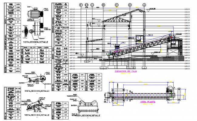Conveyor Belt DWG file