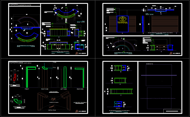 Reception table autocad file