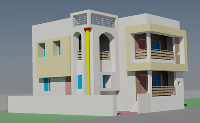 3d Bungalows autocad files