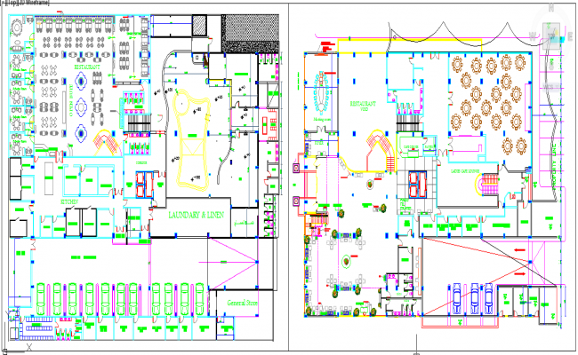 Furniture plan detail