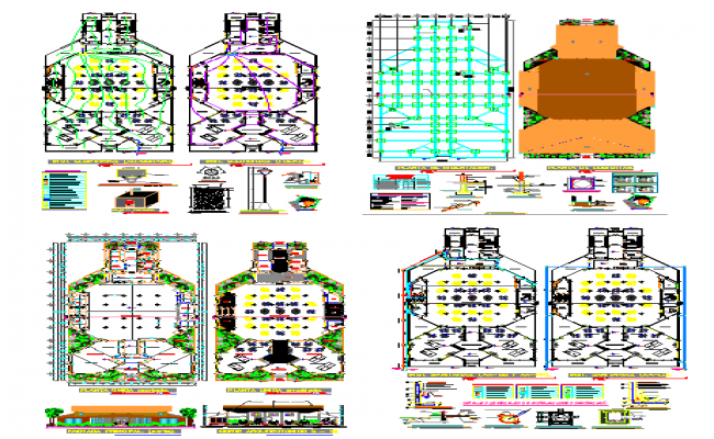 Restaurant lay-out plan