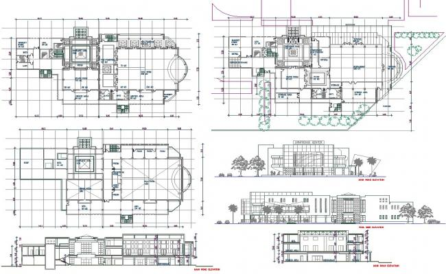 conference hall dwg, Conference Hall Autocad drawing Detail