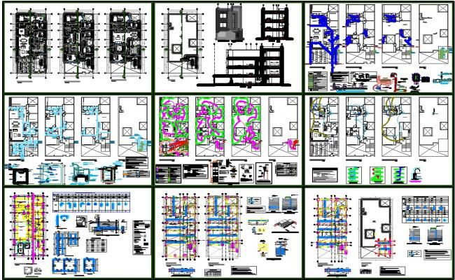 Apartment plan dwg free download for Apartment plans dwg format