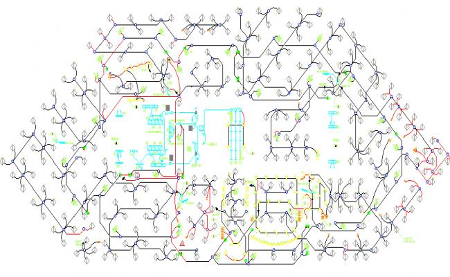 8th flooring lighting details of building dwg file