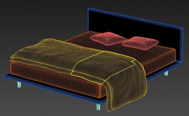 9 Inch Foam Mattress Double Bed Design MAX File
