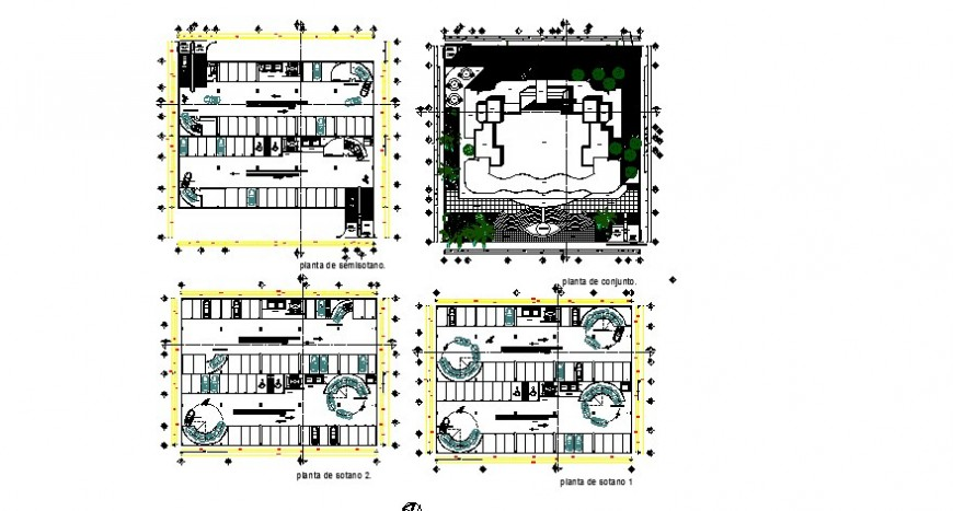 90-degree Parking system detail plan 2d view layout file in dwg format
