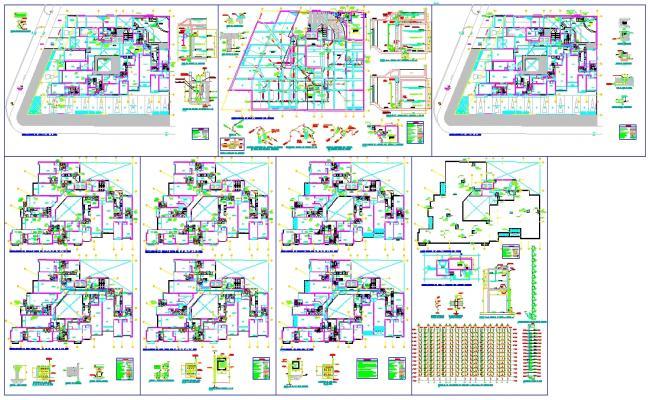 Modern Hotel Plan Detail