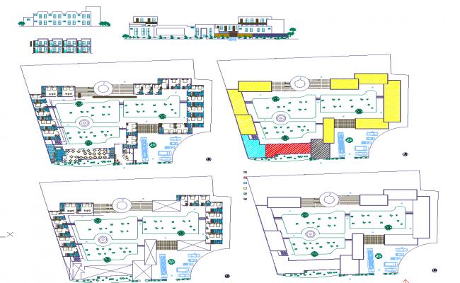 4 Star Hotel Detail plan