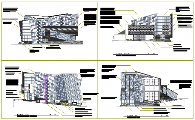 mall architectural design drawing