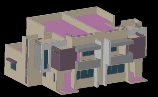 3d Twin House