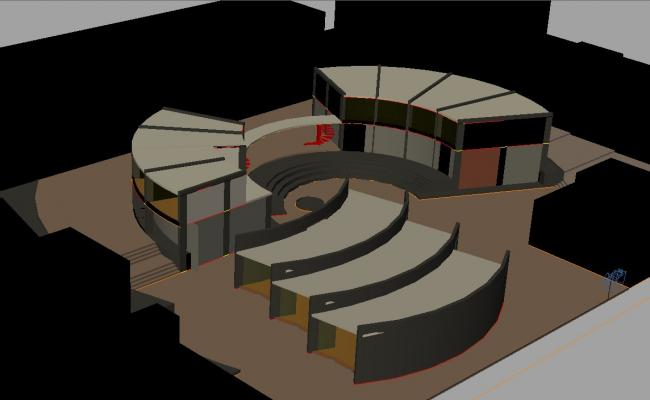 3d Drawing of Cultural center