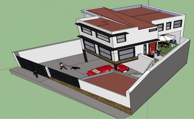 3D Duplex Home Design