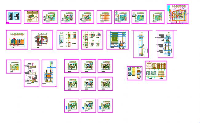 Villa design Autocad file